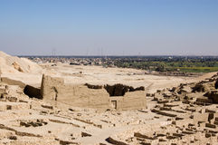 Temple de Ptolémée, EL Medina de Deir Image stock