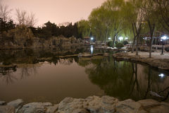 Temple de réflexion Pékin, Chine d'étang de stationnement de Sun Images stock
