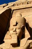 Temple de Rameses II chez Abu Simbel Photographie stock libre de droits
