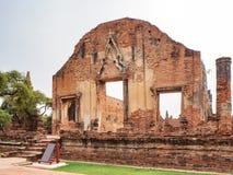 Temple de Ratchaburana images libres de droits
