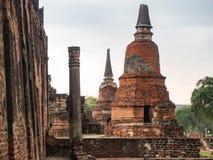 Temple de Ratchaburana photos libres de droits