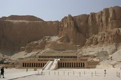 temple de reine de hatshepsut Photos stock