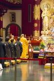 Temple de relique de dent de Bouddha à Singapour Image libre de droits