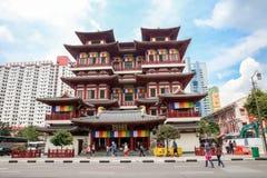 Temple de relique de dent de Bouddha dans Chinatown Images libres de droits