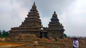 Temple de rivage chez Mahabalipuram images stock