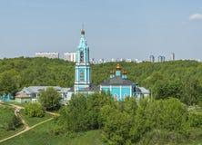 Temple de Rozhdestva Presvyatoy Bogoroditsy V Krylatskom Image libre de droits