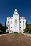 Temple de rue George Utah photos stock