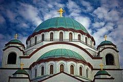 Temple de rue Sava à Belgrade, Serbie Images libres de droits
