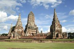 temple de ruines d'ayutthaya Thaïlande Images libres de droits