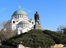 Temple de saint Sava photos libres de droits