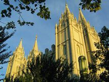 Temple de Salt Lake City de mormon images stock