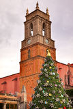 Temple de San Rafael Christmas Tree San Miguel de Allende Messico Fotografia Stock Libera da Diritti