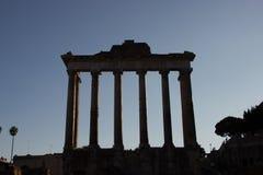 Temple de Saturne Photos libres de droits