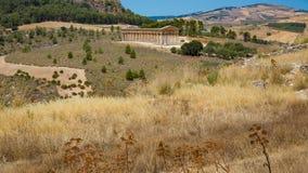 Temple de Segesta Photo libre de droits