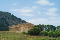 Temple de Segesta en Sicile image stock