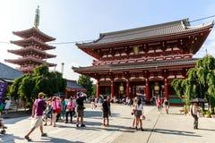 Temple de Senso-ji à Tokyo Photo libre de droits