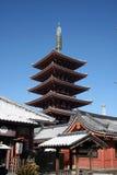 Temple de Sensoji en hiver Photos libres de droits