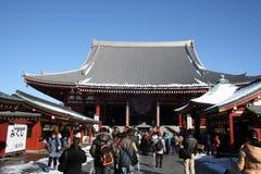 Temple de Sensoji en hiver Images libres de droits