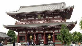 Temple de Sensoji Kaminarimon et rue d'achats, Tokyo clips vidéos