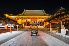 Temple de Sensoji la nuit Image libre de droits