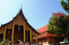 Temple de Sensoukharam dans la ville de Luang Prabang chez Loas photos stock
