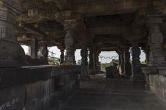 Temple de shiva de Hemadpanti, Hottal, maharashtra photos stock