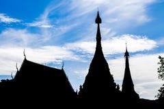 Temple de silhouette Image libre de droits