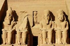 temple de simbel de l'Egypte d'abu photo stock