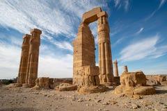 Temple de Soleb d'Egyptien dans la région de Nubian du Soudan images stock