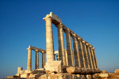 Temple de Sounion de cap photographie stock libre de droits