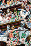 Temple de Sri Mariamman à Singapour : 2 Photo stock