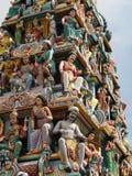 Temple de Sri Mariamman - Singapour Images libres de droits
