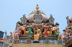 Temple de Sri Mariamman - Singapour Photos libres de droits