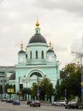 Temple de St Sergius de révérend de Radonezh dans le Rogozhskaya Sloboda, Moscou, Russie Image libre de droits