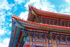 Temple de style de chinois traditionnel chez Wat Leng-Noei-Yi Photographie stock libre de droits