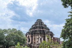 Temple de The Sun chez Konark Image stock