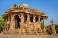 Temple de The Sun, Modhera Goudjerate images stock