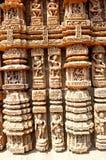 Temple de Sun près de Puri, Inde Images libres de droits