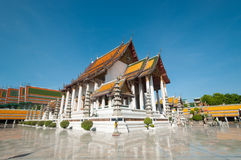 Temple de Sutat à Bangkok, Thaïlande Photos libres de droits