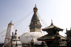 Temple de Swayambhunath - Népal Photos stock