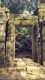 Temple de Ta Prohm Photos stock