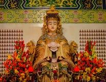 Temple de Thean Hou à Kuala Lumpur, Malaisie Photos libres de droits