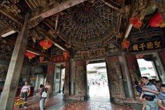 Temple de Thean Hou à Lukang photographie stock libre de droits