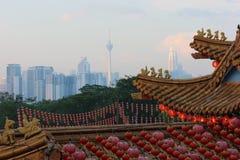 Temple de Thean Hou en Kuala Lumpur Photos libres de droits