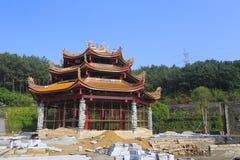 Temple de Tianzhuyan en construction Images stock