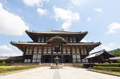 Temple de Todai-ji de Nara, Japon Photos stock