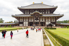 Temple de Todaiji à Nara, Japon éditorial Image libre de droits