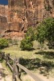 Temple de trailhead Zion National Park de Sinawava photo stock