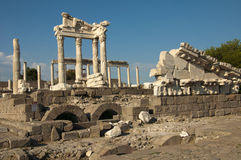 Temple de Trajan chez Pergamos Photo libre de droits