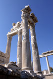 Temple de Trajan dans Pergamon Image stock